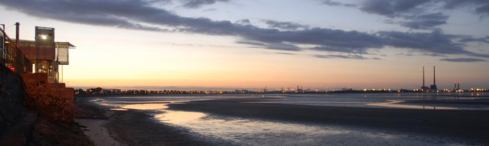 Dublin Bay at night