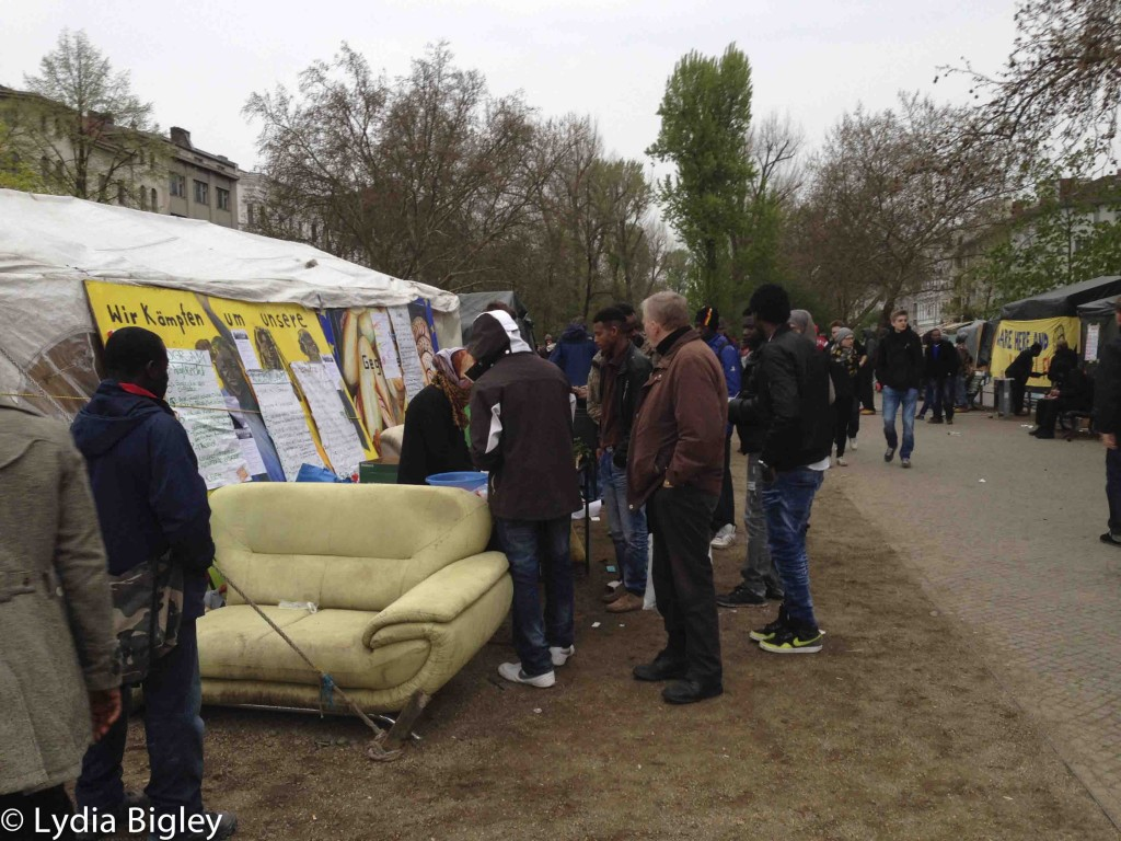 Asylum camp at Oranienplatz, Berlin
