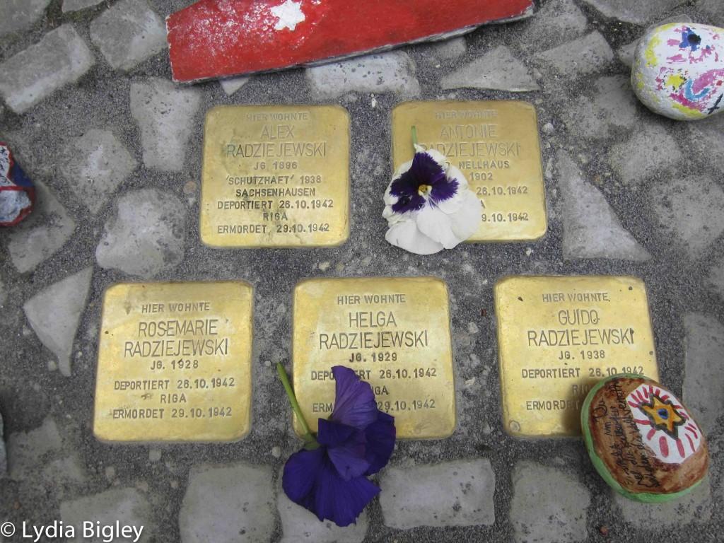 stolperstein, memorial stones